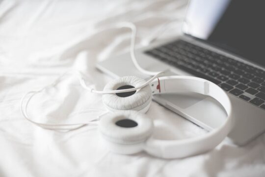 Listening to Music in a Bed